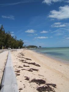 Bahamas - beach along Nassau's Eastern Road