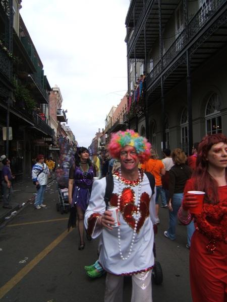 New Orleans - Mardi Gras revellers