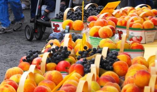 Savour Stratford  - grapes & peaches