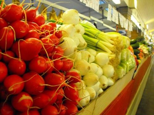 fresh vegetables at The West Side Market, Cleveland