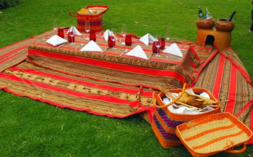 picnic table - Sacred Valley style