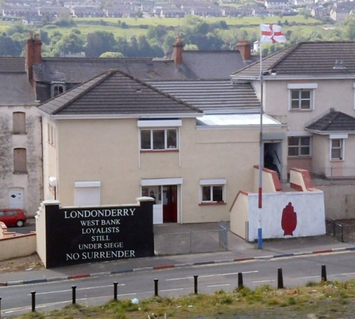 Derry mural - red hand