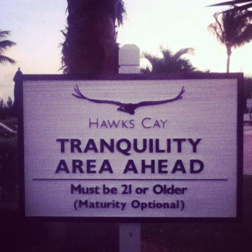 Florida - Hawks Cay sign