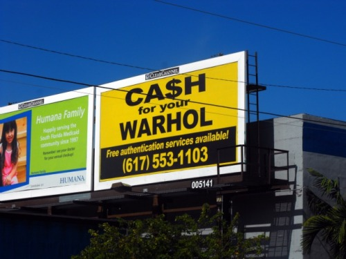 Miami - Cash for your Warhol sign