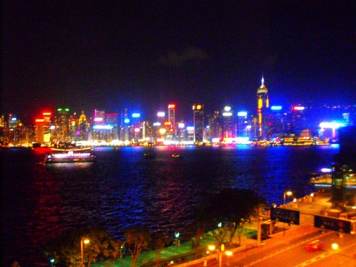 China - Hong Kong light show