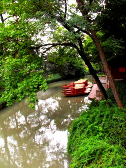 China - Suzhou's Tiger Hill boats