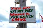 Bahamas - Conch crawl sign
