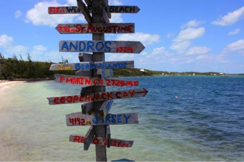 Bahamas - Abacos signpost