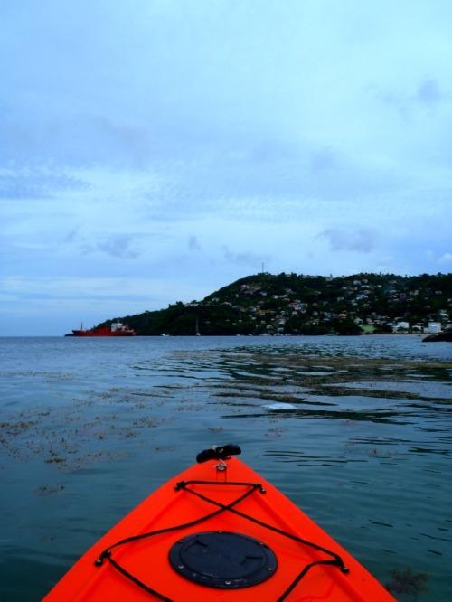 Grenada - kayaking offshore