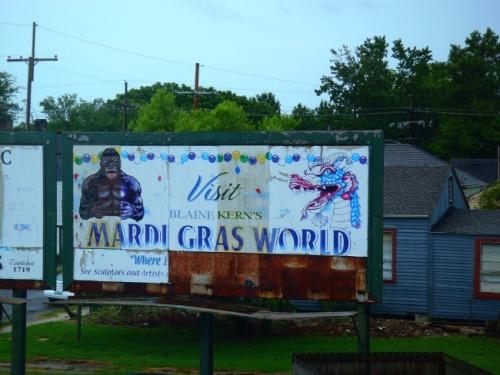 New Orleans - Mardi Gras World sign