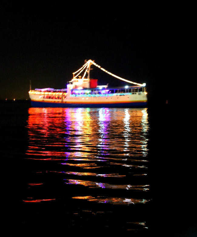Evening delight: the party boat, Port of Spain Trinidad ...