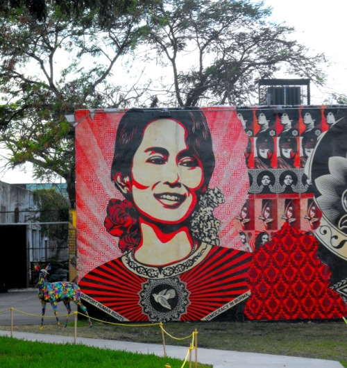 Florida - Miami Wynwood Arts District Ang Sun Suu Kyi