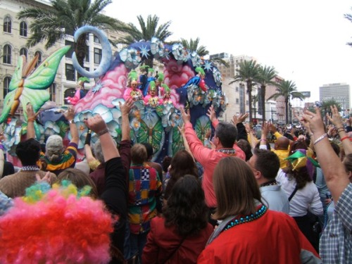 New Orleans - Mardi Gras Canal St parade