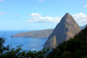 Petit Piton as seen from Grand Piton