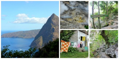St. Lucia - piton collage