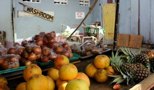 Castries market fruit