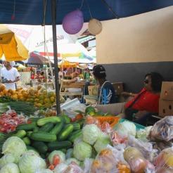 Castries market vegetables