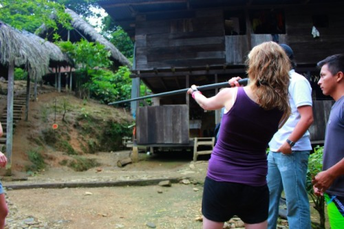 Ecuador - AW and the blowgun