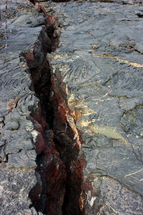 Galapagos Islands - lava crack