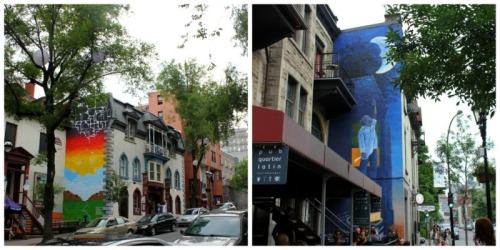 Montreal - Latin Quartier collage