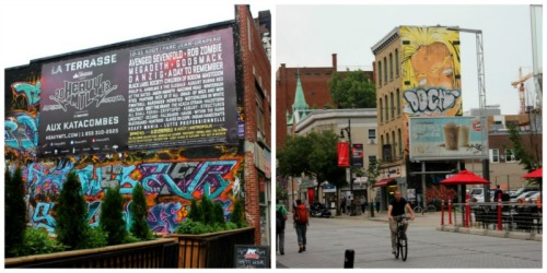 Montreal - graffiti collage
