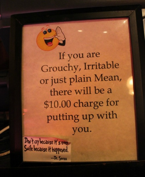 New Orleans - grouchy sign