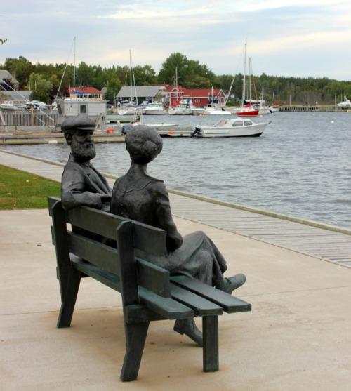 NS - Baddeck sculpture of The Bells