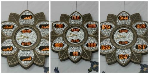 UAE - AD - Grand Mosque clock collage