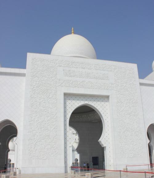 UAE - Grand Mosque entrance