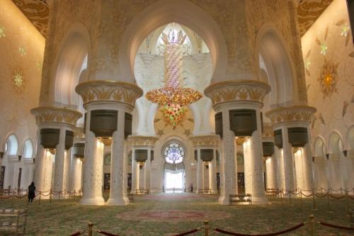 UAE - Grand Mosque interior