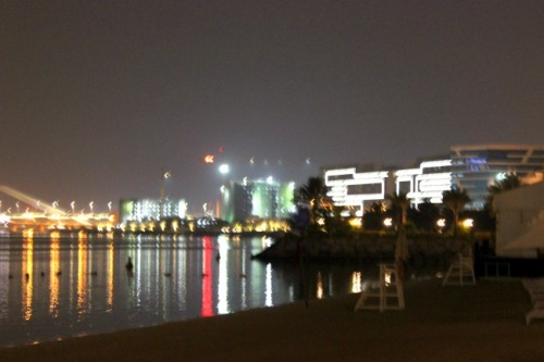 UAE - AD night view