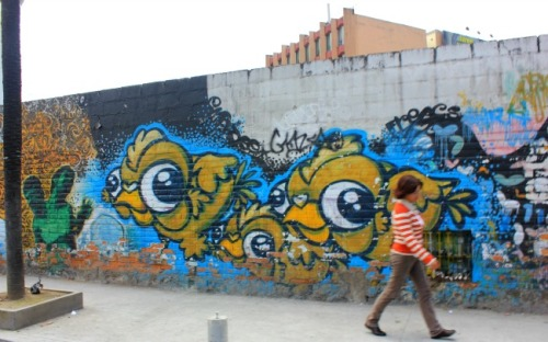 Quito - bird mural