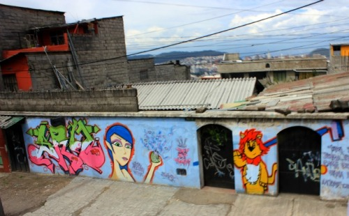 Quito - girl and lion
