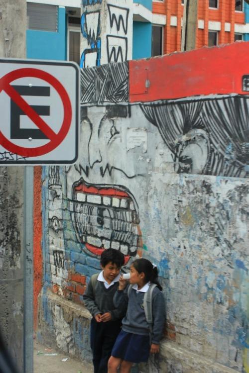 kids and graffiti