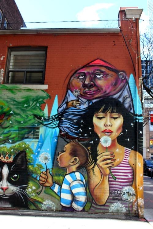 Toronto - graffiti spring
