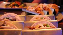 brisket and fish tacos