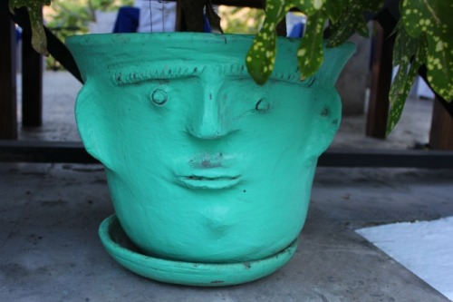 St Lucia - ceramic pot