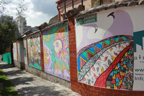 Quito - street art mural