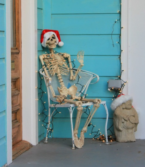 New Orleans - skeleton santa