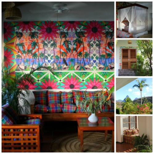St Lucia - Anse Chastenet collage