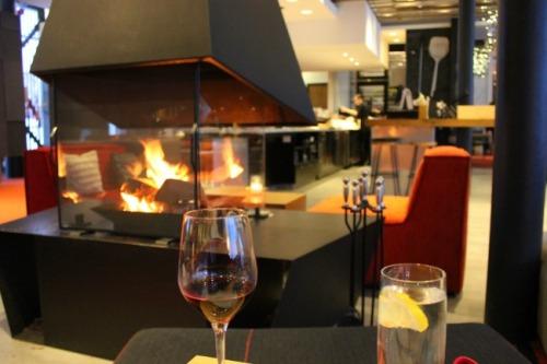 Quebec - Hotel La Ferme fireplace