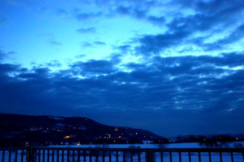 Quebec - Baie St Paul morning sky