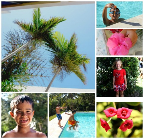 Bahamas - friends collage
