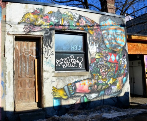 Toronto - graffiti bird lady