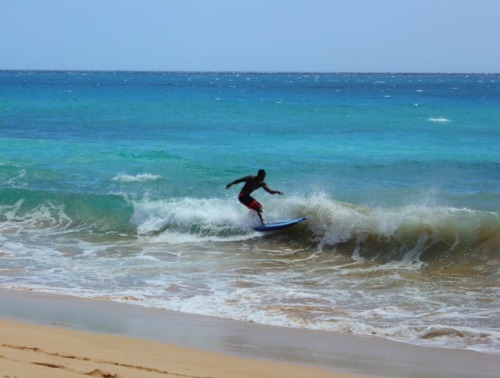 Maui - caught the wave at Makena