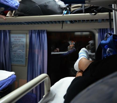 China - train life