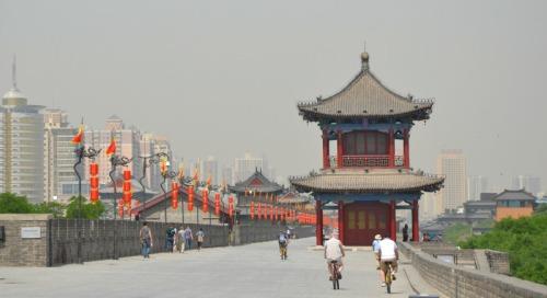 China - Xian wall cycling