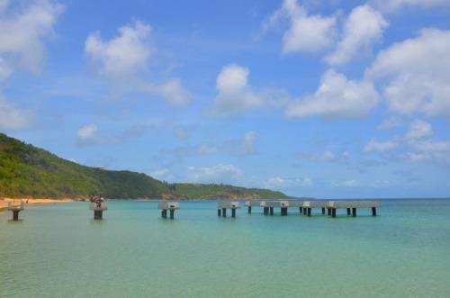 Anguilla - cement in sea