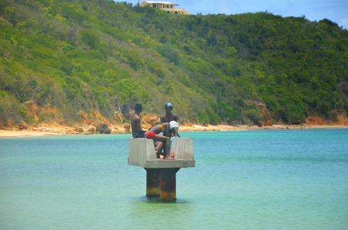 Anguilla - cement seat