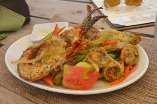 Anguilla - Davida's seafood salad